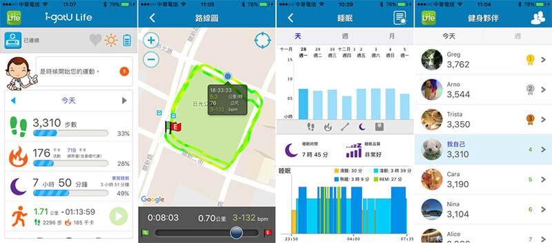 i-gotU Q68HR 心率無線智慧手環|強大APP功能