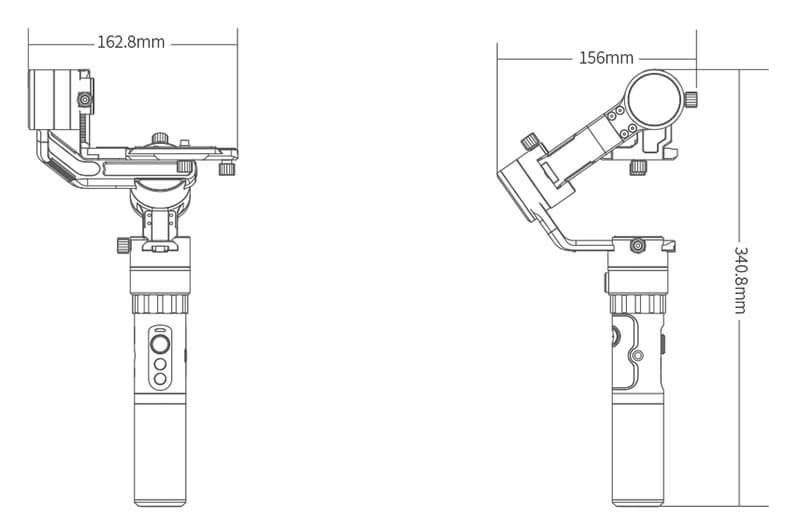 Feiyu飛宇 a1000微單眼相機三軸穩定器(不含相機)-單手持/雙手持套裝|規格|先創國際