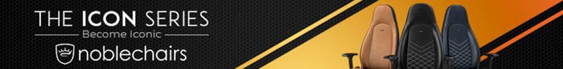 Noblechairs皇家ICON系列電競超跑椅-PU尊爵款-黑|先創國際