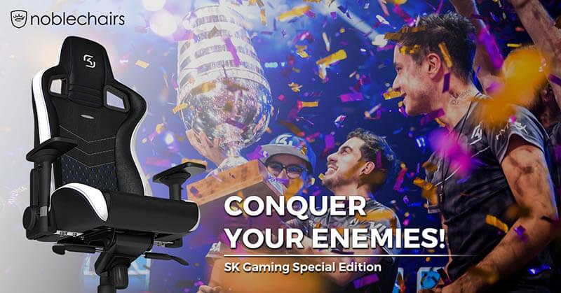 Noblechairs皇家SK電競指定椅-SK Gaming聯名特別款|先創國際