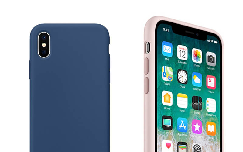 JUST MUST iPhone Xs 超纖矽膠保護殼-午夜藍|先創國際