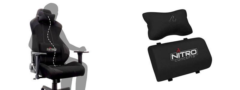 Nitro Concepts S300 電競賽車電腦椅|可調整拆卸的頸枕腰枕|先創國際