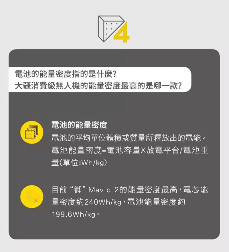 大疆消費級無人機的能量密度最高的是哪一款?|先創國際